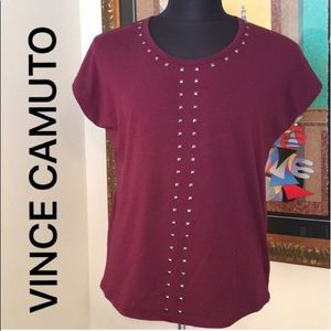 ⭐️VINCE CAMUTO TWO STUDDED TOP 💯AUTHENTIC